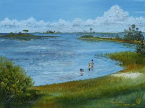 Florida Artist Sells Four Original Oil Paintings For Four Thousand Dollars